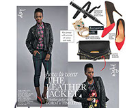 How To Wear Leather: ELLE Magazine SA, May 2013