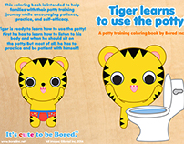 """Tiger Learns to Use the Potty"" potty training book"