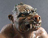 Clay and Paint Study: Wolf Man