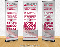 Blood Donation Standee design