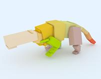 Dinosaur animation test