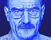 Walter White Digital Drawing