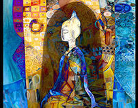 Color Paintings  mixed media and traditional media