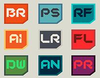 minimal CC icon set