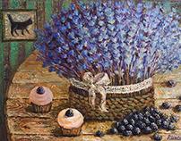"""Lavender taste"" Painting"