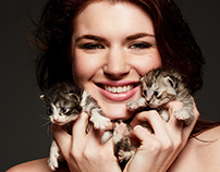 Beauty with Kittens