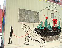 Centre-Fuge Public Art Project Mural