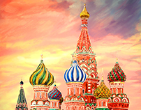 Moscow   Russia Illustration