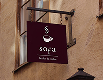 sofa - books & coffee