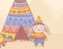 Tribal patterns and rabbit