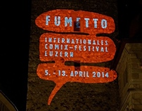 Projection animation for Fumetto Festival