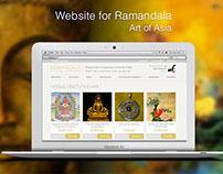 Website for Ramandala. Art of Asia