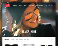 Ray-Ban Website Concept