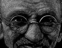 Gandhi - Point Art