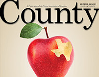 Design options, County magazine covers