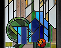 Stained glass. My own works.
