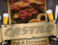 Restaurant-bar Magazine Ads or flyers Template