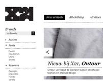 X21 Webshop design