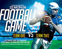 Football Game Template Flyer