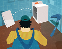 ILUSTRACE 9: Opravář pračky