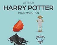 Harry Potter Movie Marathon Poster