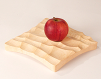 maple wave tray