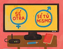 Spot Illustrations / Revista Paula