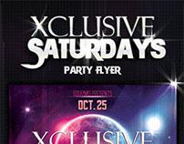 Xclusive Saturdays Party Flyer