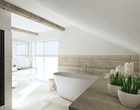 Attic bathroom/Zagaje Smrokowskie 2013