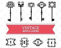 Door hangers, keys & doors vectors for Freepik