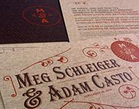 Schleiger & Casto Wedding Invite