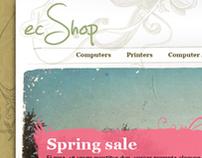 ecShop - template design