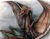 Dragon - watercolors