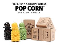 Filter017 X Brainfart55 Pop Corn Scented Candle