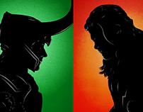 Thor v Loki - Versus Portrait