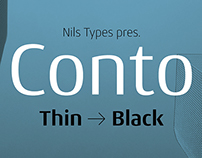 Conto - a clear and simple sans serif font