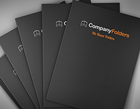 [Free PSD] Fanned Presentation Folders Mockup Template