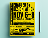 Design-athon Website and Print Material