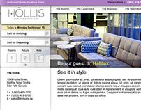 Hollis Boutique Hotel Website
