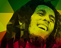 Tribute to Bob Marley - Low poly illustration