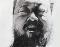 Ai Weiwei, pencil drawing