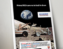 Concept and visual for car insurance campaign