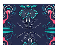 Elephants & Flamingos *Pattern Design*