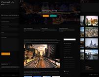 Nerocity free and dark WordPress Theme