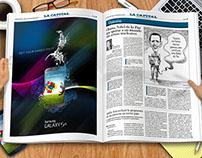 Editorial: Interior y doble página, diario La Capital