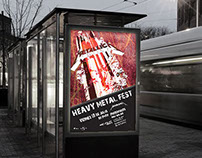 """Sistema de afiches: """"heavy metal fest"""""""