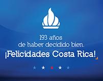 Facebook post - Celebración independencia Costa Rica