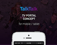 Talktalk TV Portal Concept