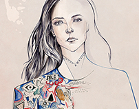 Fashion Illustrations for 55 Pages Magazine | LFW