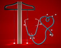 Stethoscope and T-Ruler